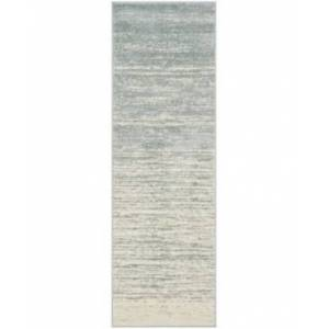 "Safavieh Adirondack Slate and Cream 2'6"" x 12' Runner Area Rug  - Slate"