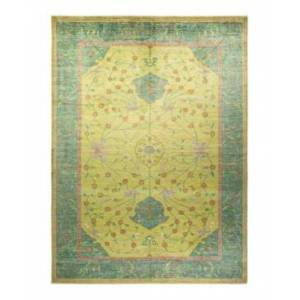 """Adorn Hand Woven Rugs Oushak M1771 10'2"""" x 13'9"""" Rectangle Area Rug  - Lime"""