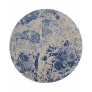 "Nourison Closeout! Nourison Moraine MO745 Blue 5'6"" Round Area Rug"