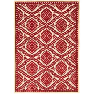 "Martha Stewart Collection MSR4443 Red 8' x 11'2"" Area Rug  - Red"