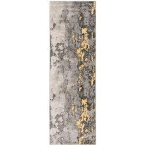 """Safavieh Adirondack Grey and Yellow 2'6"""" x 12' Runner Area Rug  - Gray"""