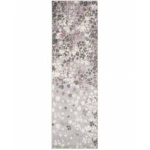 "Safavieh Adirondack Light Grey and Purple 2'6"" x 12' Runner Area Rug  - Light Gray"