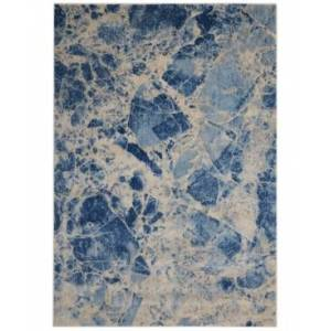 "Nourison Closeout! Nourison Moraine MO745 Blue 3'6"" x 5'6"" Area Rug"