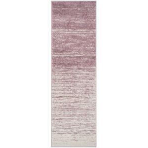 "Safavieh Adirondack Cream and Purple 2'6"" x 12' Runner Area Rug  - Cream"