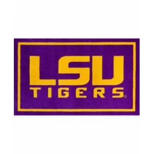 "Luxury Sports Rugs Lsu Colls Purple 3'2"" x 5'1"" Area Rug  - Purple"