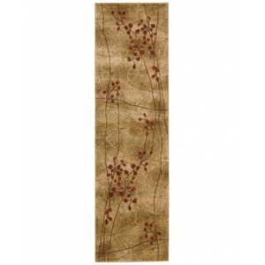 """Nourison Closeout! Nourison Area Rug, Somerset Collection ST74 Latte Blossom 2'3"""" x 8' Runner Rug"""