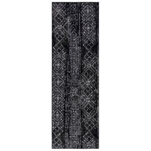 "Safavieh Adirondack Black and Silver 2'6"" x 12' Runner Area Rug  - Black"