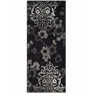 "Safavieh Adirondack Black and Silver 2'6"" x 12' Runner Area Rug  - Black"