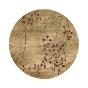 "Nourison Closeout! Nourison Round Area Rug, Somerset Collection ST74 Latte Blossom 5'6"""