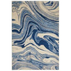 "Nourison Closeout! Nourison Moraine MO749 Light Blue 3'6"" x 5'6"" Area Rug"