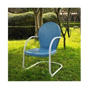 Crosley Griffith Metal Chair  - Blue