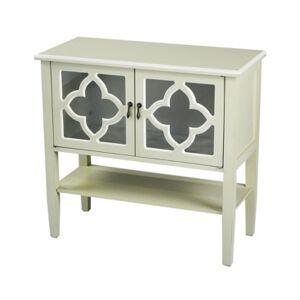 Heather Ann Creations Heather Ann Frasera 2-Door Console Cabinet with Drawer  - Beige