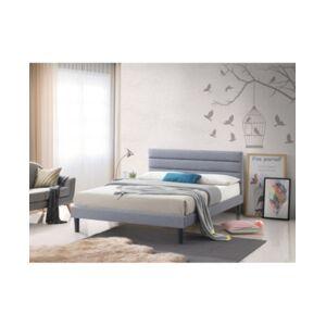 LuXeo Brisbane King-Size Panel Platform Bed  - Gray