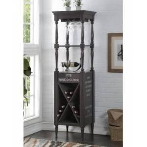 Acme Furniture Anthony Wine Cabinet  - Gray