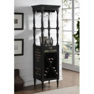 Acme Furniture Anthony Wine Cabinet  - Black