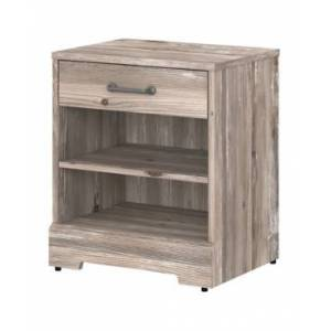 Kathy Ireland Home by Bush Furniture River Brook Nightstand with Drawer  - Brown