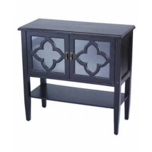 Heather Ann Creations Heather Ann Frasera 2-Door Console Cabinet with Drawer  - Black