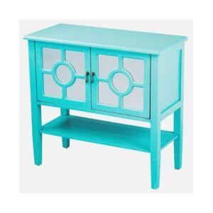 Heather Ann Creations Heather Ann Hampton 2-Door Console Cabinet with Shelf  - Turquoise