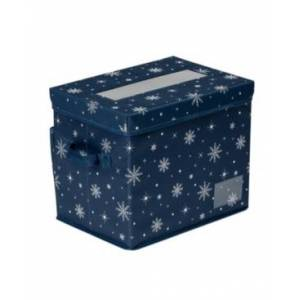 Honey Can Do Deluxe 36-Cube Ornament Storage Box  - Navy