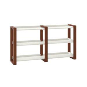 Kathy Ireland Home by Bush Furniture Voss 3 Tier Shoe Rack  - White