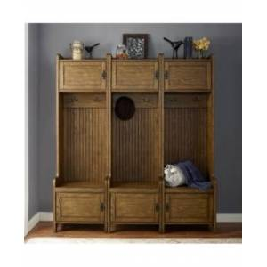 Crosley Fremont 3 Piece Entryway Kit - 3 Towers  - Cherry