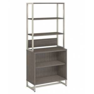 Kathy Ireland Office by Bush Furniture Method Bookcase with Hutch  - Cocoa