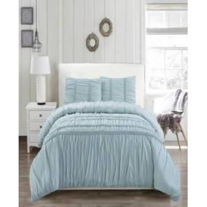 Duck River Textile Emilia 6 Piece King Comforter Set Bedding  - Ether-blue