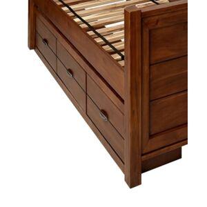 "My Home Logan 77"" Under Bed Storage Box  - Med Brown"