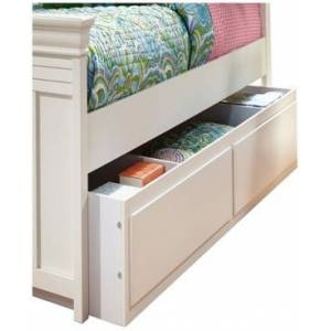 "My Home Neapolitan 75"" Twin Trundle Unit  - White"