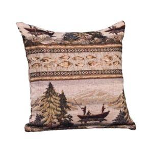 "Siscovers Balsam Lake 16"" Designer Throw Pillow  - Med Brown"