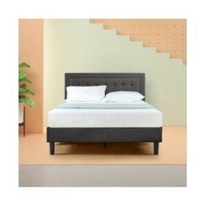 Zinus Dachelle Platform Bed / Strong Wood Slat Support, King  - Dark Grey