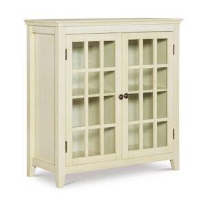 Linon Home Decor Loxford Decor Largo Antique-Like Double Door Cabinet  - White
