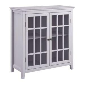 Linon Home Decor Lochan Double Door Cabinet  - Gray