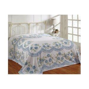 Better Trends Bloomfield Twin Bedspread Bedding  - Blue