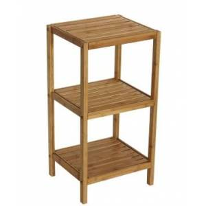 Gallerie Decor Bamboo Natural Spa 3 Shelf Tower  - Brown