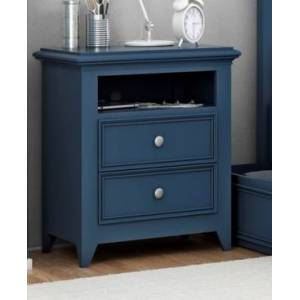 """My Home Bailey 25"""" 2 Drawer Night Stand  - Med Blue"""