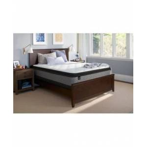 "Sealy Essentials Coral 13"" Plush Euro Pillow Top Mattress - California King"