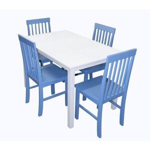 Walker Edison 5 Piece Modern Dining Set  - Blue
