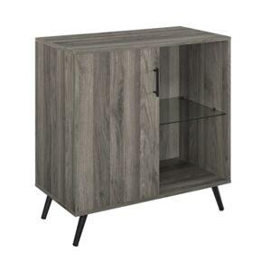 Walker Edison 1-Door Wood Accent Cabinet Tv Stand  - Gray
