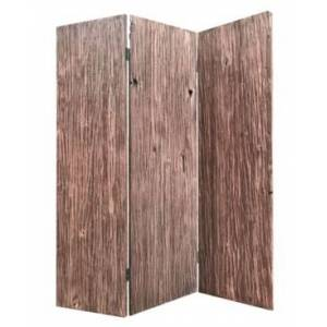 Screen Gems Handcrafted Rustic 3 Panel Woodland Screen  - Brown