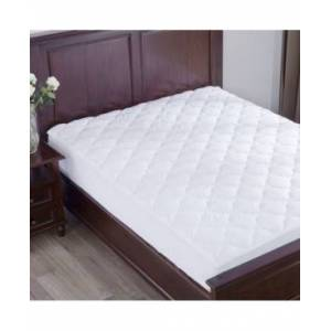Puredown Top Alternative Mattress Pad Four-Leaf Clover Quilted Queen  - White