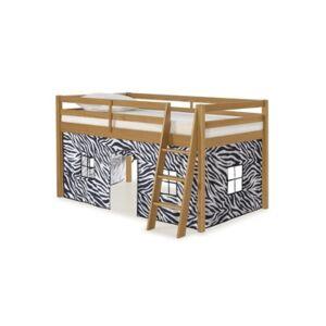 Alaterre Furniture Twin Roxy Junior Loft Tent  - Cinnamon with Zebra Print