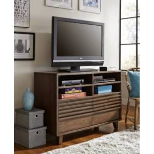 """My Home Madison 46"""" 2 Drawer Media Chest  - Dk Brown"""