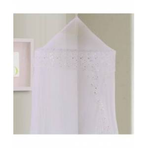 Epoch Hometex Inc Cottonloft Galaxy Collapsible Hoop Sheer Mosquito Net Bed Canopy  - White