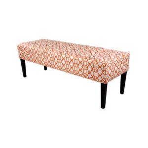 Mjl Furniture Designs Kaya Button Tufted Entryway Long Bench  - Open Orang