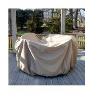 Blue Wave All-Weather Protective Cover For 54-In Round Table and Chairs with Umbrella Hole  - Brown