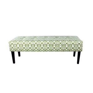Mjl Furniture Designs Kaya Button Tufted Entryway Long Bench  - Open Green