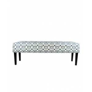Mjl Furniture Designs Kaya Button Tufted Entryway Long Bench  - Open Blue