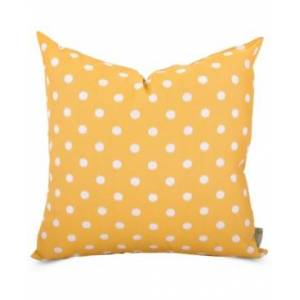 "Majestic Home Goods Ikat Dot Decorative Soft Throw Pillow Large 20"" x 20""  - Yellow"
