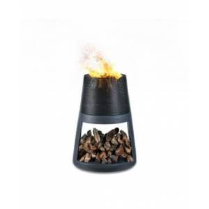 Danya B. Outdoor Conic Wood Burning Faux Stone Fire Pit  - Charcoal